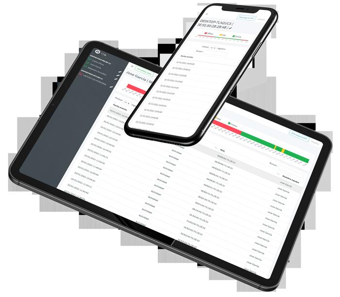 Diferentes aplicaciones de monitoreo de empleados